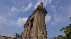 Charlottenburg gate in Berlin Stock Footage