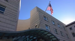 Embassy of the United States of America in Berlin Stock Footage
