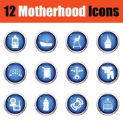 Set of motherhood icons. Stock Illustration