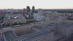 Aerial view over Federal Ministry of Finance in Berlin - Finanzministerium Stock Footage