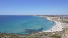 Coastline on the San Giovanni di Sinis, Sardinia. Stock Footage