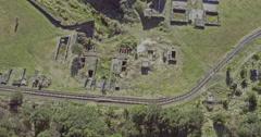Karangahake Gorge goldmine ruins, Paeroa, New Zealand Stock Footage