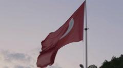 Turkish flag close up Stock Footage
