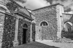 Alley old city italian european church Stock Photos