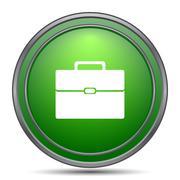 Briefcase icon. Internet button on white background.. Stock Illustration