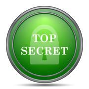 Top secret icon. Internet button on white background.. Stock Illustration