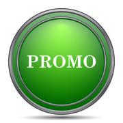 Promo icon. Internet button on white background.. Stock Illustration