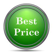 Best price icon. Internet button on white background.. Stock Illustration