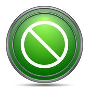 Forbidden icon. Internet button on white background.. Stock Illustration