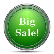 Big sale icon. Internet button on white background.. Stock Illustration