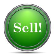 Sell icon. Internet button on white background.. Stock Illustration