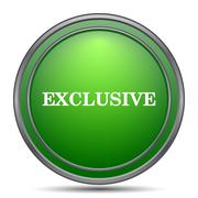Exclusive icon. Internet button on white background.. Stock Illustration