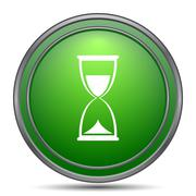 Hourglass icon. Internet button on white background.. Piirros