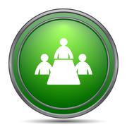 Meeting room icon. Internet button on white background.. Stock Illustration