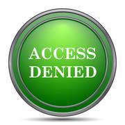 Access denied icon. Internet button on white background.. Stock Illustration