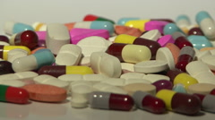 Medicines in light motion display Stock Footage