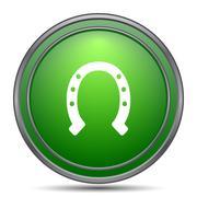 Horseshoe icon. Internet button on white background.. Stock Illustration