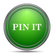 Pin it icon. Internet button on white background.. Stock Illustration