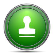 Stamp icon. Internet button on white background.. Stock Illustration