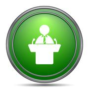 Speaker icon. Internet button on white background.. Stock Illustration