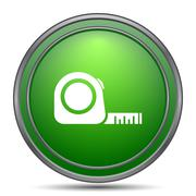 Tape measure icon. Internet button on white background.. Stock Illustration