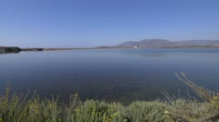 Lake near Nora on Sardinia. UHD footage.  Stock Footage