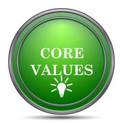 Core values icon. Internet button on white background.. Stock Illustration