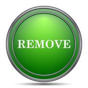 Remove icon. Internet button on white background.. Stock Illustration