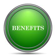 Benefits icon. Internet button on white background.. Stock Illustration