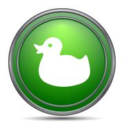 Duck icon. Internet button on white background.. Stock Illustration