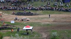 COUNTRY CROSS KTM , Extreme enduro MOTO SPORT Quad bikes Stock Footage