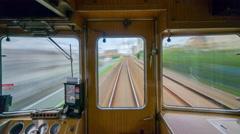 Hankyu Train in Osaka Stock Footage