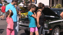 Classic and performance car show Stock Footage