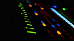 Close Up Of Electronic Mixing Console Stock Footage