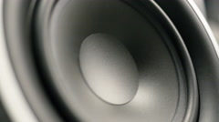 Large Speaker Bumping Stock Footage