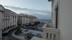 Timelapse of city life in Thessaloniki, Greece Stock Footage