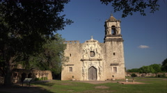 Spanish Mission San Jose in San Antonio, Texas Stock Footage