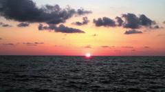 Beautiful sunset on the beach. Adriatic Sea, Italy, Amantea Calabria. Stock Footage