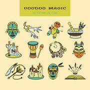 Voodoo African and American magic vector logo Stock Illustration