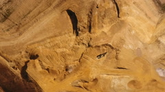 Gravel and sand quarry aerial view Stock Footage