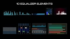HUD Equalizer elements Stock After Effects