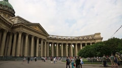 Kazan Cathedral in St. Petersburg in Russia Stock Footage
