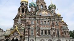 Church of the Savior on Blood in St. Petersburg Stock Footage
