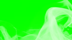 Wave of white smoke on green screen - compositing element Stock Footage
