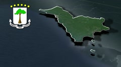 Litoral with Coat Of Arms Animation Map Stock Footage