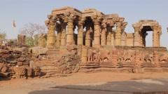 Barahdwari Siddheshwar temple,Omkareshwar,India Stock Footage