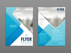 Simplicity flyer design Stock Illustration