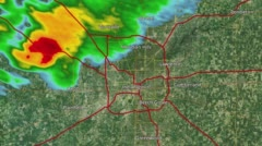 2016 Indianapolis, IN Tornado Doppler Radar (No Warning Boxes) Arkistovideo