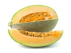 Orange cantaloupe melon Stock Photos