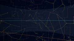 Equatorial constellations mapped to a sphere. Scaled star shapes Stock Footage